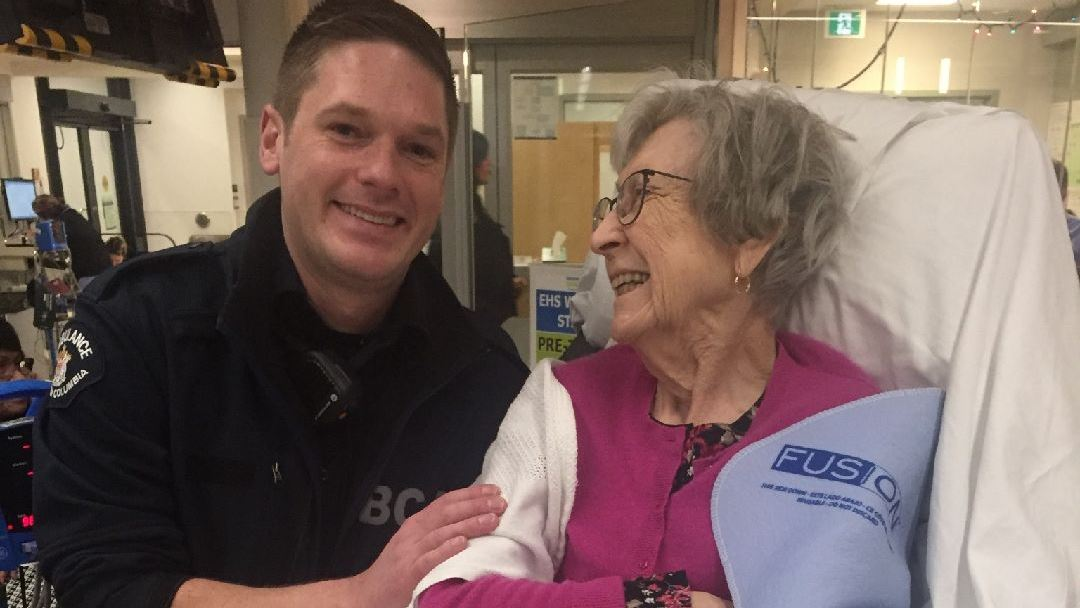 Paramedic with patient at Emergency Department