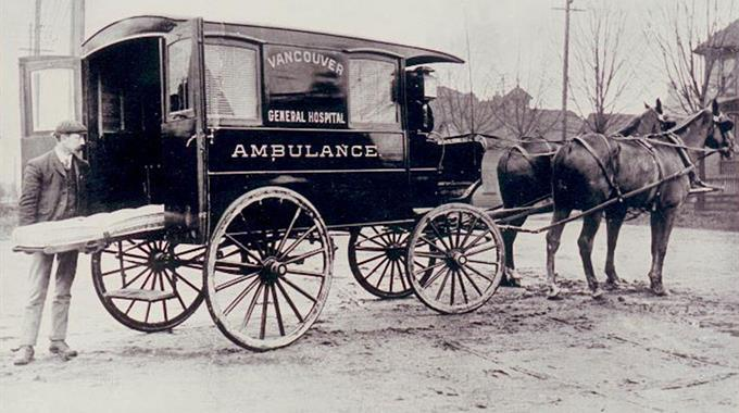 Horse drawn VGH Ambulance in 1902