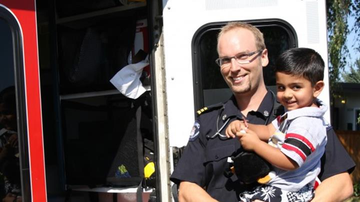 Child with paramedic